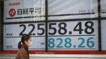 Bolsa de valores de Tokio abre con baja de 3,5% debido a nuevo coronavirus