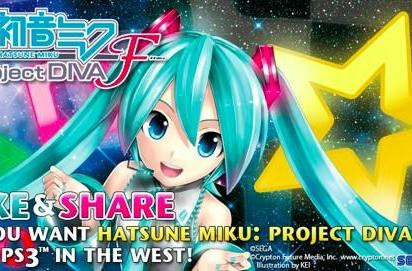 Sega polls fans about Western release of Hatsune Miku Project Diva F