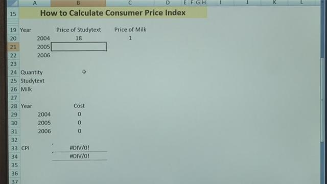 How To Calculate A Consumer Price Index