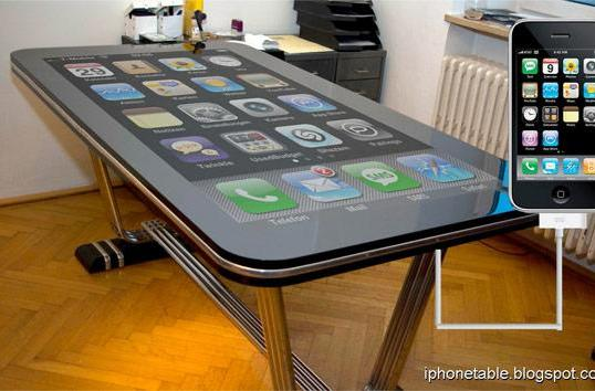 58-inch Table Connect for iPhone multitouch surface easily dwarfs your iPad (update: it's fake)