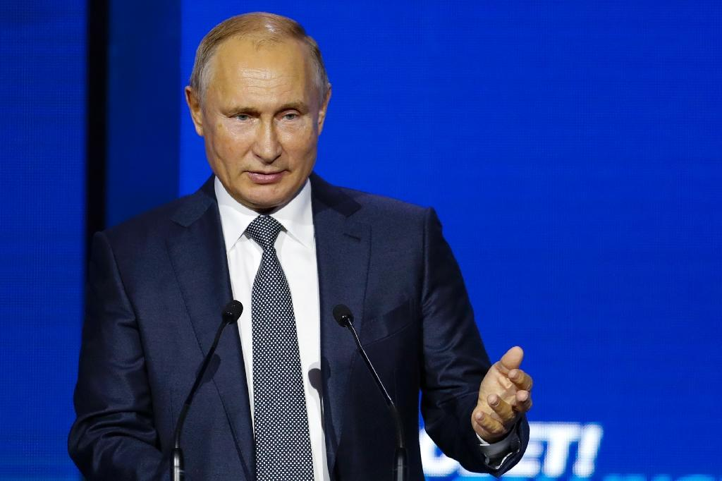 "Russian President Vladimir Putin dismissed Ukraine's economic problems, saying ""It's always easier to blame economic failures on war"""
