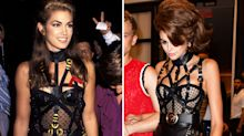 Kaia Gerber is spitting image of Cindy Crawford in bondage-inspired Versace outfit