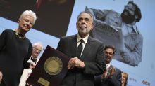 Francis Ford Coppola reçoit à Lyon le prix Lumière pour l'ensemble de son oeuvre riche et foisonnante