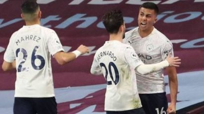 Foot - ANG - Manchester City reprend ses distances dans la course au titre en battant Aston Villa