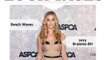 Look des Tages: Nina Agdal in nudefarbener Valentino-Robe