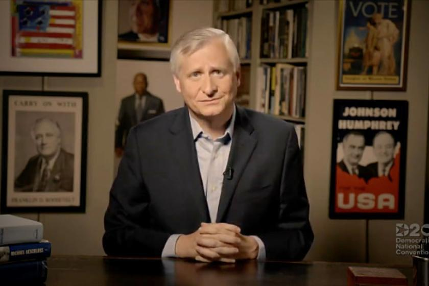 MSNBC contributor Jon Meacham didn't disclose he reportedly helped write Biden's presidential acceptance speech when commenting on it thumbnail