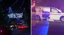 Child killed after van is hit by a train as family looks at Christmas lights