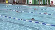 Swimmers dive back into England's outdoor pools