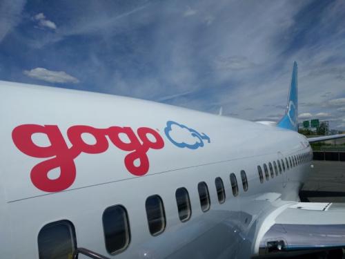 Gogo testing plane.