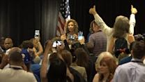 Outgoing DNC Chair Jeered at Chaotic Pre-Convention Event