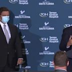VP Mike Pence discusses COVID-19 battle with Gov. DeSantis in Tampa