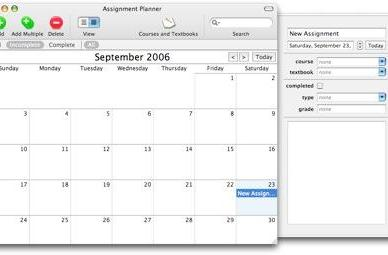 Stay on top of classes with assignment planner