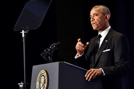U.S. President Barack Obama delivers the keynote speech at the Asian Pacific American Institute for Congressional Studies' (APAICS) 22nd annual awards dinner at the Washington Hilton hotel in Washington