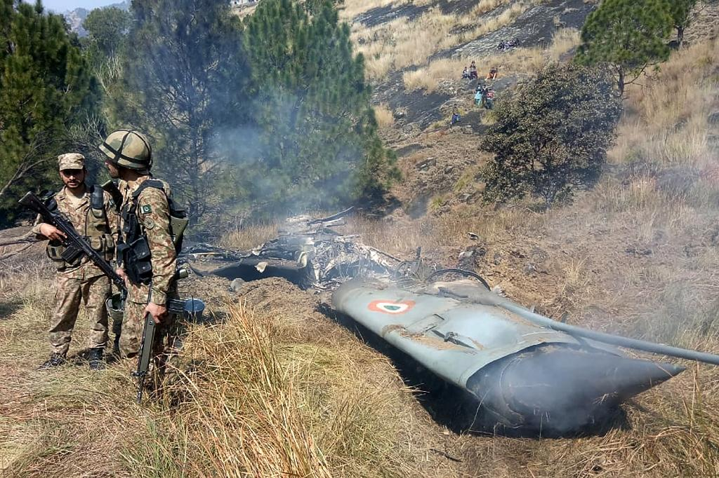 An Indian jet was shot down in Pakistan-controlled Kashmir in February