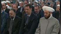 Raw: Assad Attends Eid Prayers