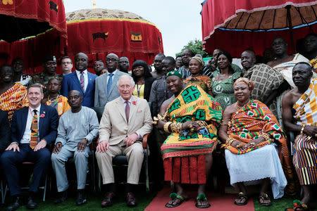 Britains's Prince Charles visits cocoa growing town in Kumasi, Ghana, November 4, 2018. REUTERS/Francis Kokoroko