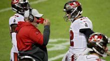 Bucs coach Bruce Arians went for it on fourth down at his own 20 and had his 43-year-old QB sneak it