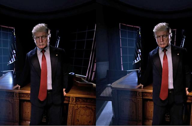 Trump at 2AM: The new Oval Office in virtual reality