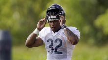 Bears RB David Montgomery carted off field with non-contact injury