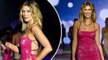 Delta Goodrem's 'hot' latex dress steals spotlight at fashion week