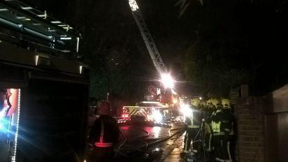Hampstead fire: One dead as crews battle blaze in block of flats in north London