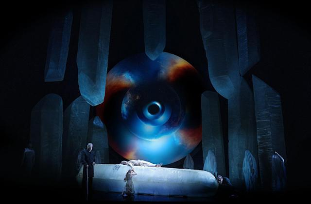 Hubble provides the cosmic background to a dark French opera