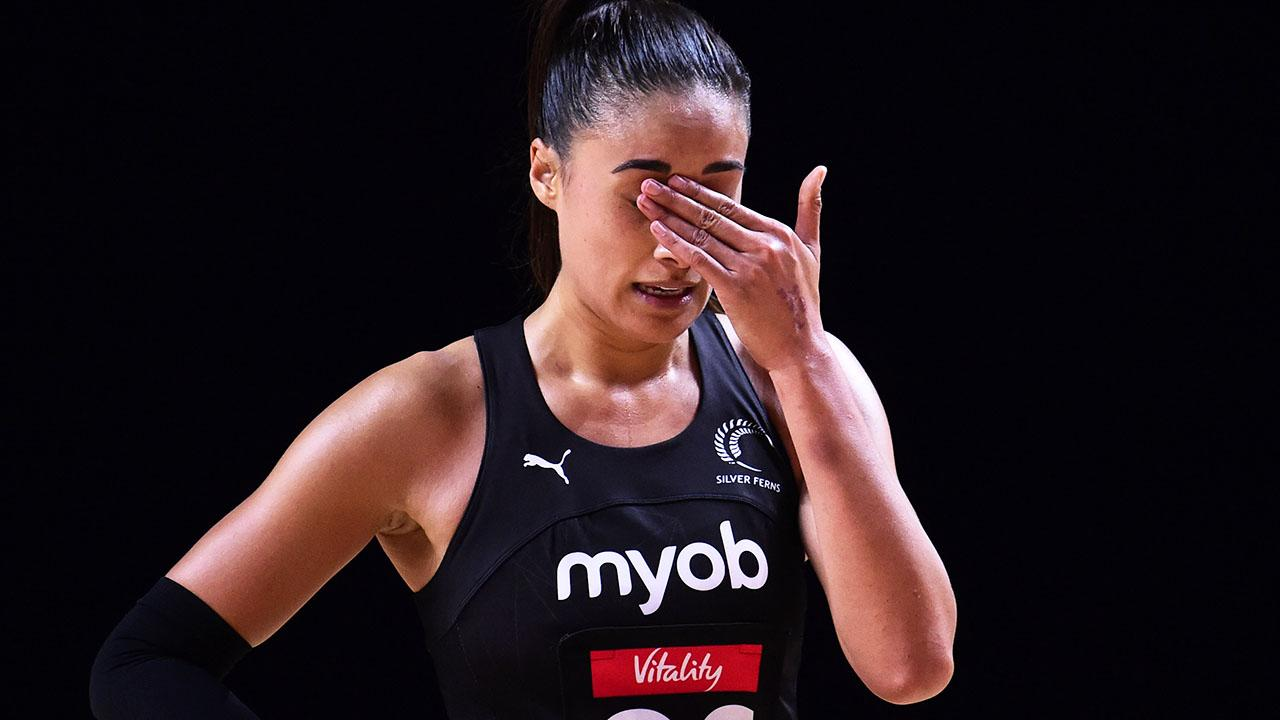 Maria Folau in tears in heartbreaking on-court moment at Constellation Cup