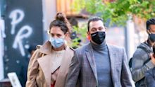 Katie Holmes Just Wore the 20¢ Face Mask That Was One of Amazon Prime Day's Most Bought Items