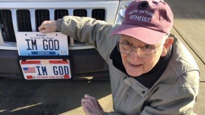 Atheist awarded $150K in fight over vanity plates