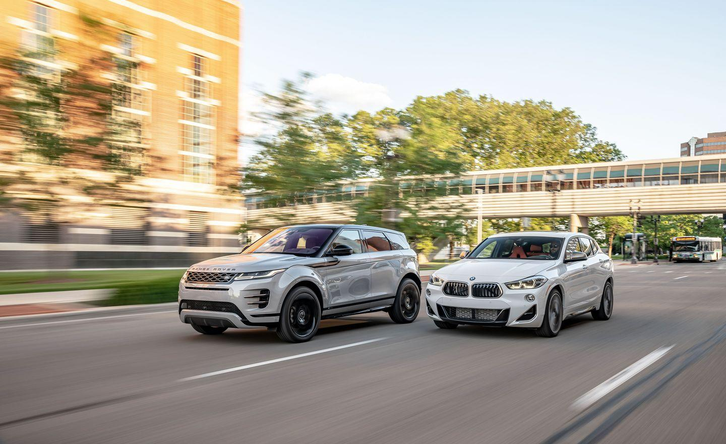 View Photos Of The 2019 Bmw X2 And 2020 Range Rover Evoque