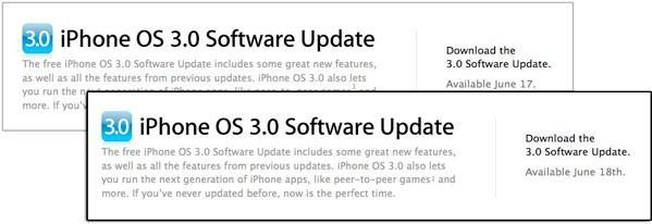 Stop hitting F5, iPhone OS 3.0 release still hours away?