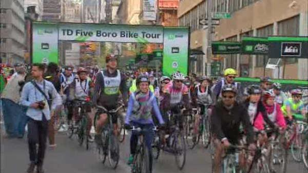 Cyclists hit the streets for Five Boro Bike Tour