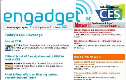 Engadget now optimized for CES
