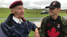 Eyes on the sky for retired 86-year-old paratrooper taking in Skyhawks show