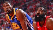 Kevin Durant denies he spoke to James Harden about Brooklyn; Warriors called about Harden