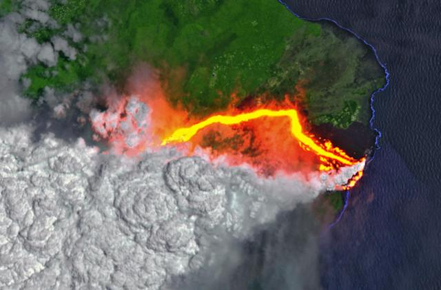 The drama and fury of Kilauea's volcano from space