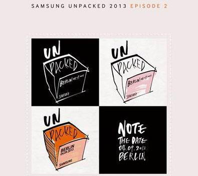 Samsung 'Unpacked Episode 2' scheduled for September 4th in Berlin
