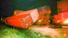 Freight train derails in Tennessee, slams into at least 2 buildings