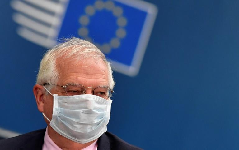 """EU foreign policy chief Josep Borrell (pictured July 17, 2020) said the action had been taken """"to better prevent, discourage, deter and respond to such malicious behaviour in cyberspace"""" (AFP Photo/JOHN THYS)"""
