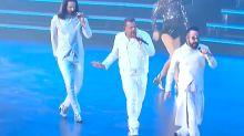 James Corden Joins Backstreet Boys For Surprise Vegas Performance