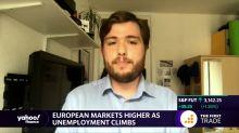 European markets higher as unemployment climbs