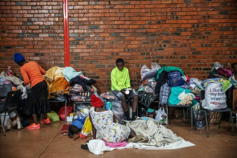 Many foreigners fled the violence with the few belongings they could grab during the Johannesburg attacks (AFP Photo/Michele Spatari)
