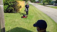 Fort Lauderdale Firefighters Mow Veteran's Lawn After Treating His Heat Exhaustion