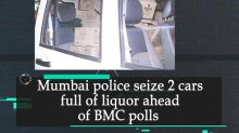 Mumbai police seize 2 cars full of liquor ahead of BMC polls