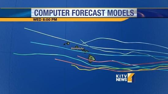 Tropical Storm Flossie Spaghetti models