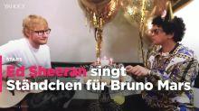 Bruno Mars lässt Ed Sheeran Geburtstagslied singen