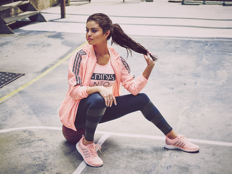 sells good looking online store Adidas reveals Selena Gomez's autumn collection