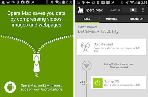 Opera Max beta compresses most of the data going through your Android device