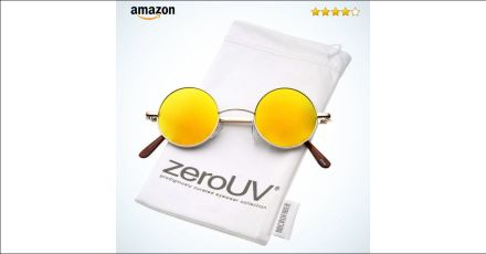 zeroUV - Retro Round Sunglasses for Men Women with