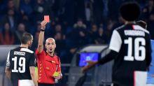 Sarri disputes Juventus red card in Serie A defeat to Lazio